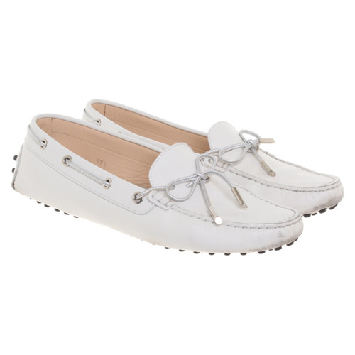 94de5689b88 Tod s Slippers Ballerinas Leather in White - Second Hand Tod s ...