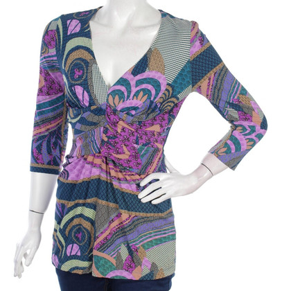 Set Patterned Stretch Tunic Top