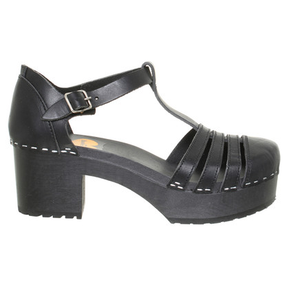Swedish Hasbeens Black sandals