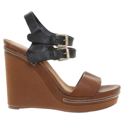 Chloé Wedges in brown / black