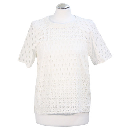 Whistles Lace Top in White