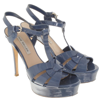 The Seller Patent leather sandals