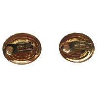 Christian Dior Gold-plated clip earrings with pearl