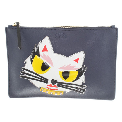 Karl Lagerfeld clutch in blu scuro