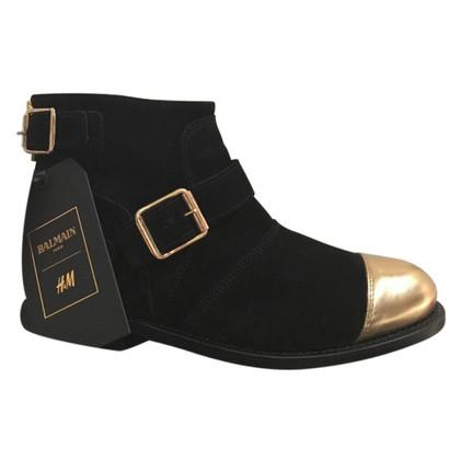 Balmain X H&M Balmain x H & M suede boots size 37