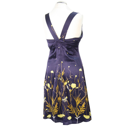 Ted Baker Silk dress in dark blue