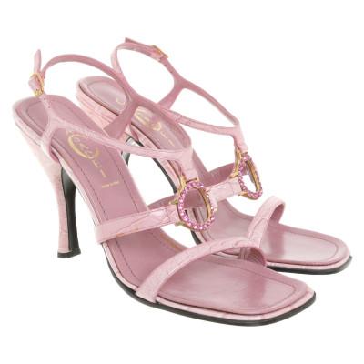 07170e28c71d0 Casadei Sandalen aus Leder in Rosa   Pink