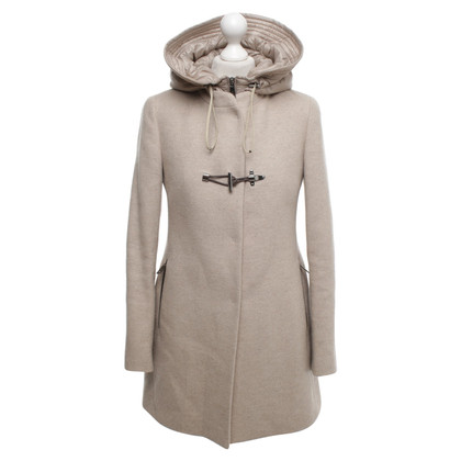 Fay Puristic coat with hood