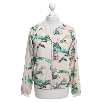 Maison Scotch Bomber jacket with floral pattern