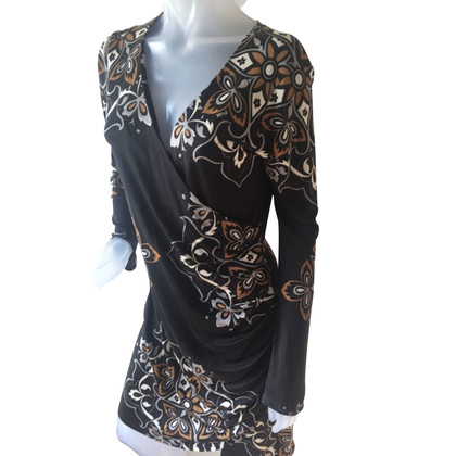 Hale Bob Zijden jurk met patroon