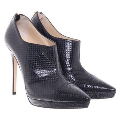 Jimmy Choo Black watersnake ankle boots