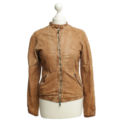 Giorgio Brato Light brown leather jacket