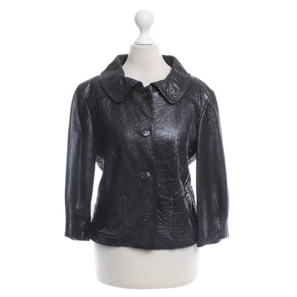 Laurèl Leather jacket in brown