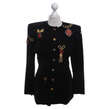 Escada Velvet blazer with appliqués
