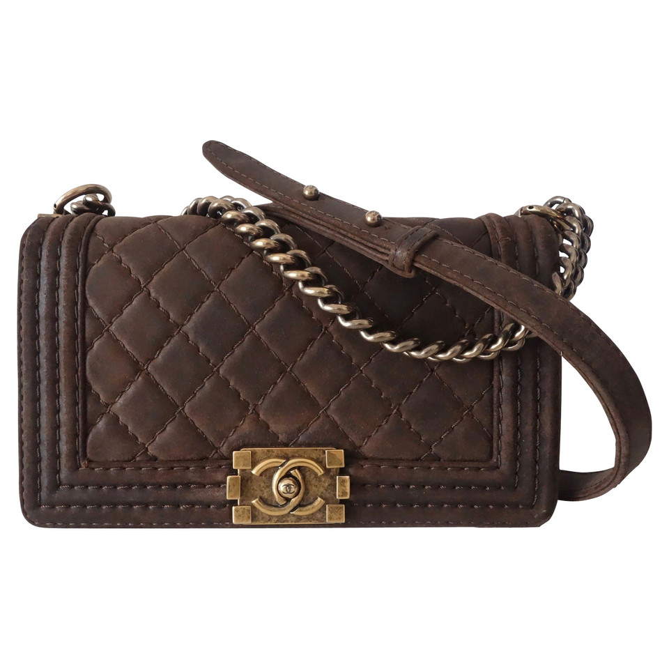 chanel boy bag in brown buy second hand chanel boy bag in brown for 3. Black Bedroom Furniture Sets. Home Design Ideas