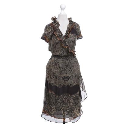 Etro Kleid mit Ethno-Muster