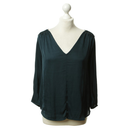 Velvet Tunic blouse in teal colors
