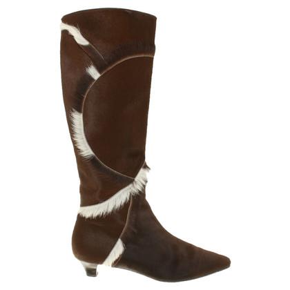 Salvatore Ferragamo Boots with pony fur