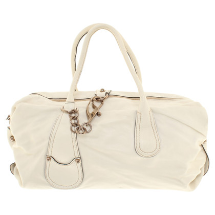 Fay Leather bag in cream white