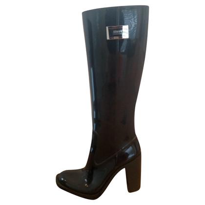 Armani Collezioni stivali di gomma neri