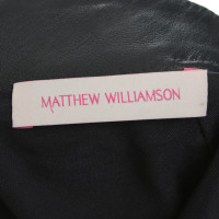 Matthew Williamson Leder Rock mit Muster