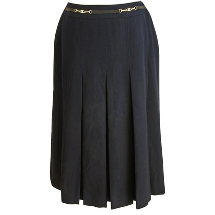 Céline Celine skirt blue pure wool 1980s
