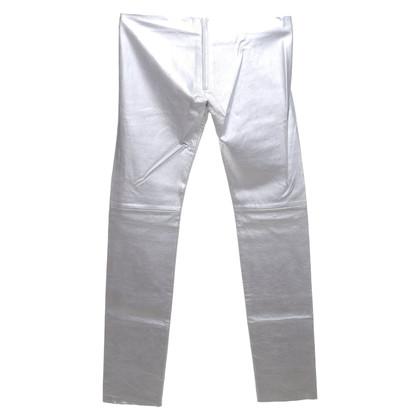 Jitrois Pantalon en cuir en argent
