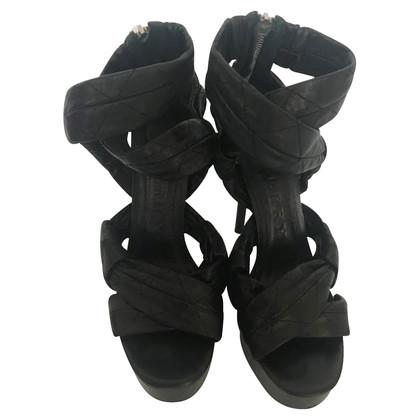 Burberry sandali con plateau