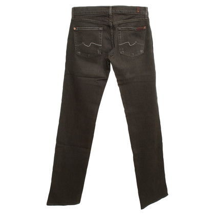 7 For All Mankind Jeans in Olivgrün