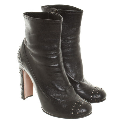 Prada Leather ankle boots with studs
