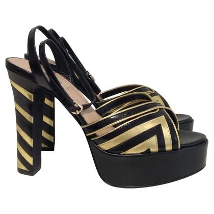 Valentino Plateau sandals in gold / black