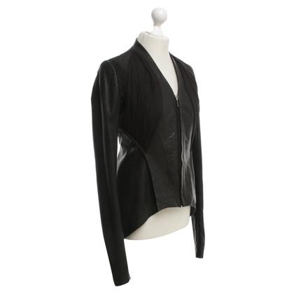 Rick Owens Leather Blazer in Black