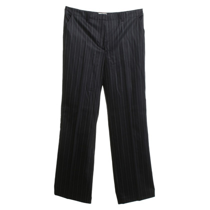 Gunex Pinstripe trousers in dark blue