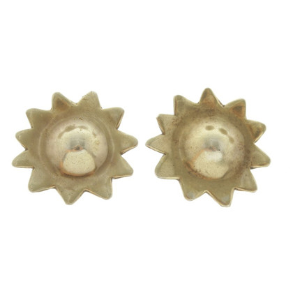Cada Earclips with sun motif