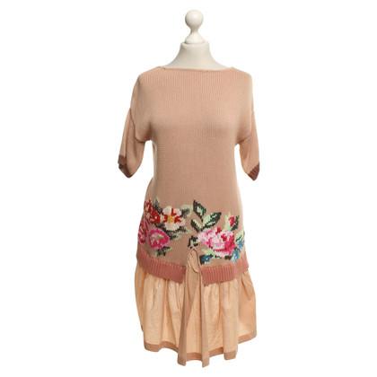 Twin-Set Simona Barbieri Gebreide jurk nude