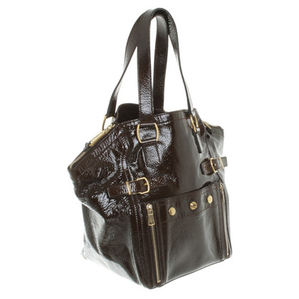 "Yves Saint Laurent ""Downtown Bag"" patent leather"