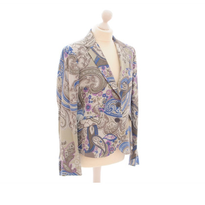 Etro Blazer in de heldere Paisley patterns