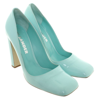 Jil Sander Pumps aus Lackleder
