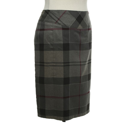 Barbour skirt with checked pattern