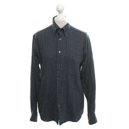 Hermès Flannel blouse with checked pattern