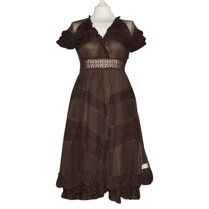 Odd Molly robe de dentelle marron