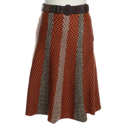 Etro Wool skirt with print
