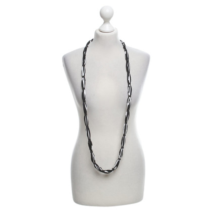 Missoni Textile necklace in black and white