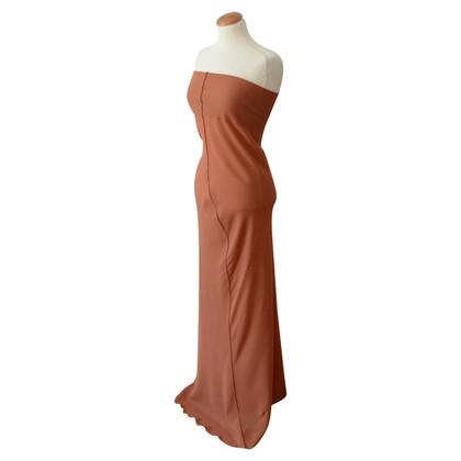 Jil Sander lange jurk nude