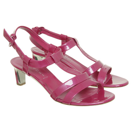Casadei High heel sandal in metallic pink