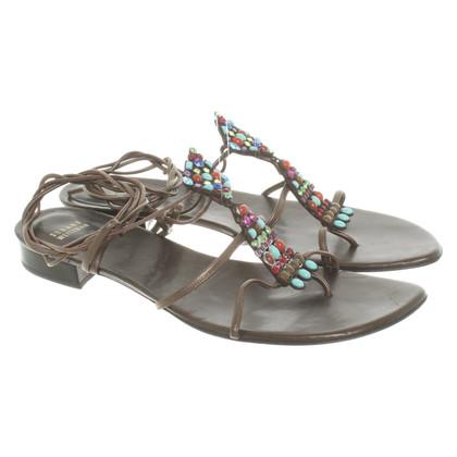 Stuart Weitzman Sandals with gemstones