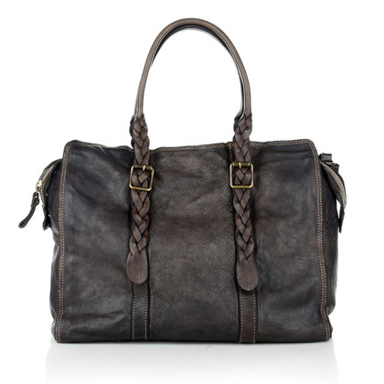 Campomaggi Shopping leather bag Grigio