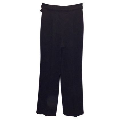 Prada Pantaloni neri eleganti con cintura
