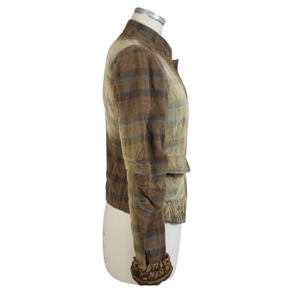 Marithé et Francois Girbaud Jacket with checked pattern