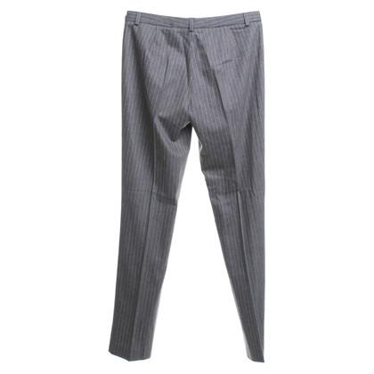 René Lezard Pinstriped trousers in grey